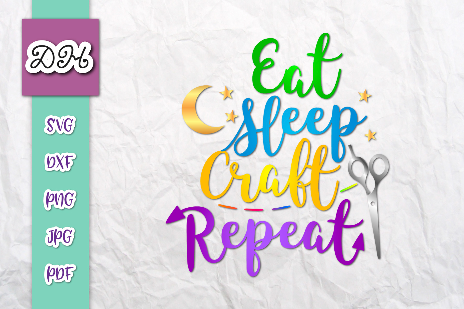 Download Free Eat Sleep Craft Repeat Sign Sublimation Graphic By Digitals By for Cricut Explore, Silhouette and other cutting machines.