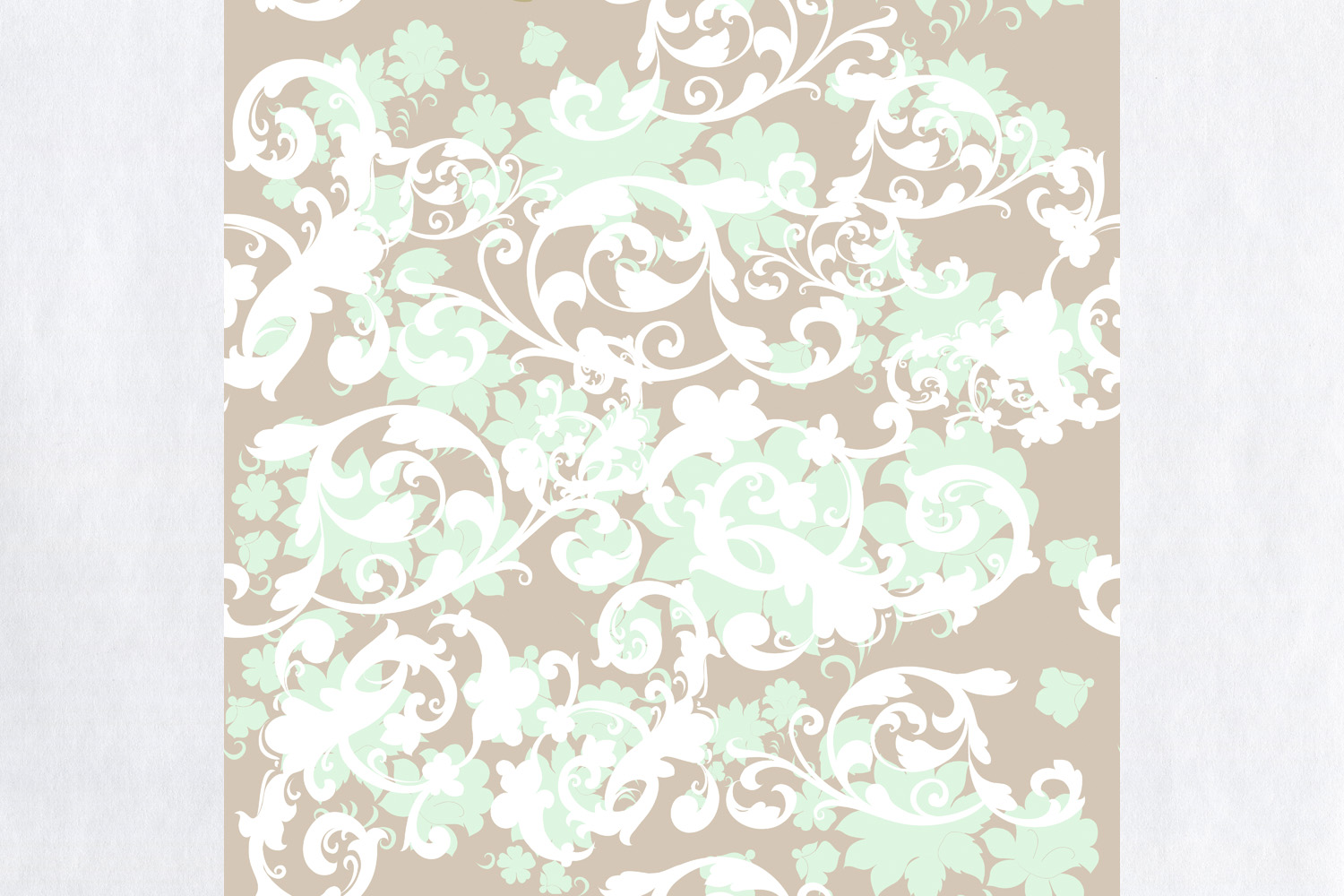 Download Free Fabric Floral Design Pattern In Vintage Graphic By for Cricut Explore, Silhouette and other cutting machines.
