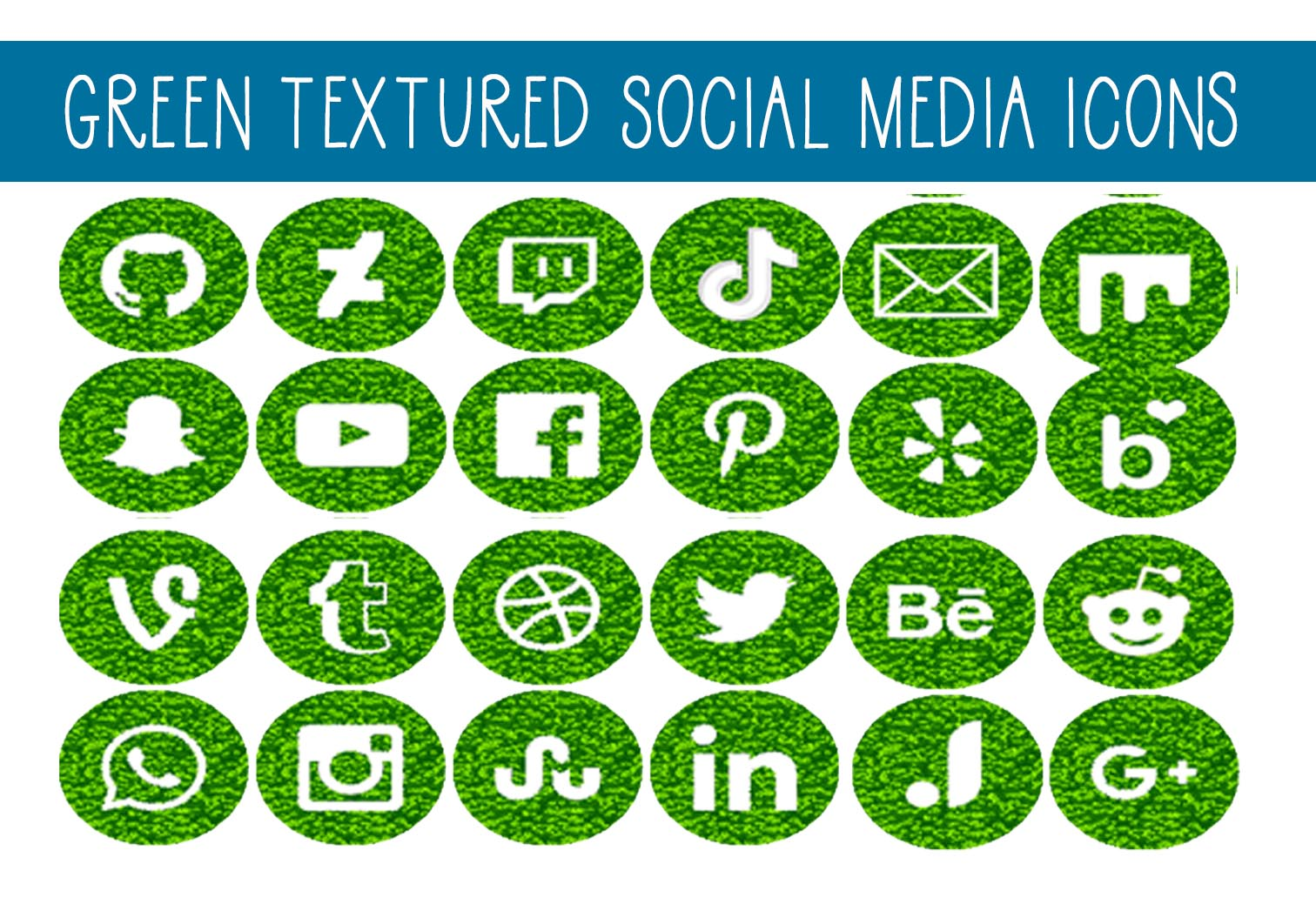 Download Free Green Textured Social Media Icons Graphic By Capeairforce Creative Fabrica for Cricut Explore, Silhouette and other cutting machines.