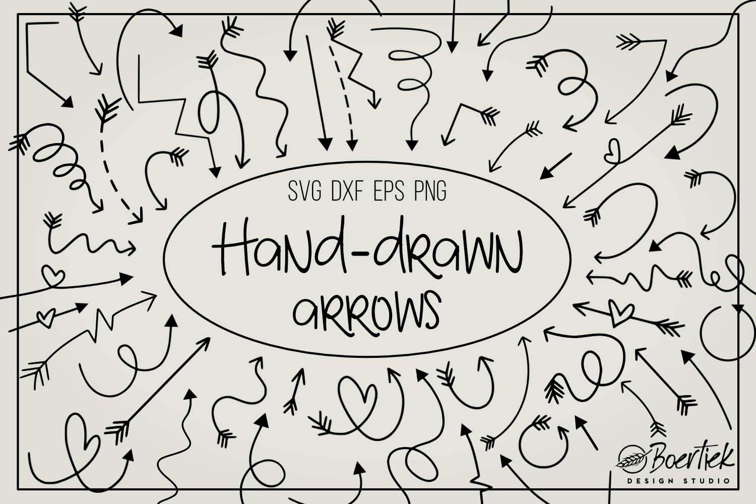 Download Free Hand Drawn Arrows Graphic By Boertiek Creative Fabrica for Cricut Explore, Silhouette and other cutting machines.
