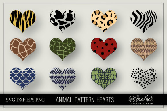 Download Free Heart Animal Patterns Graphic By Boertiek Creative Fabrica for Cricut Explore, Silhouette and other cutting machines.