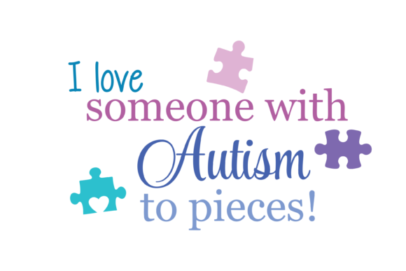 Download Free I Love Someone With Autism To Pieces Svg Graphic By Am Digital for Cricut Explore, Silhouette and other cutting machines.
