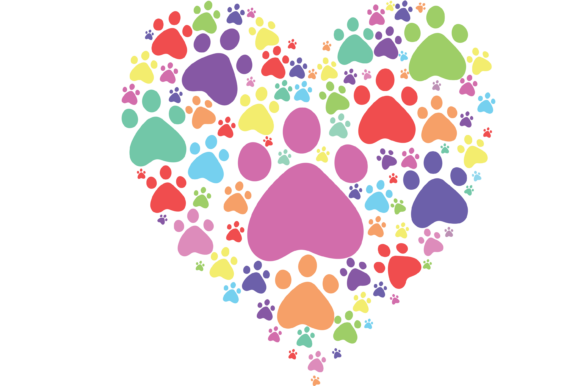 Download Free Paw Print Heart Graphic By Am Digital Designs Creative Fabrica for Cricut Explore, Silhouette and other cutting machines.
