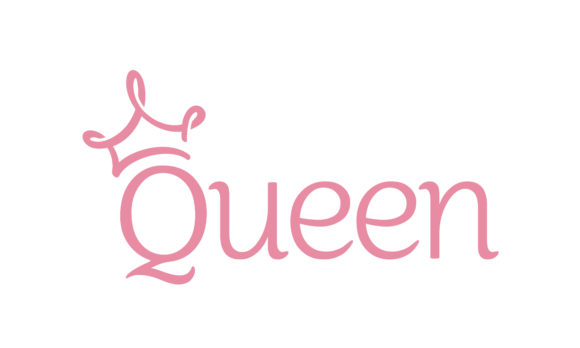 Download Free Queen Princess Crown Lettering Logo Grafico Por Enola99d for Cricut Explore, Silhouette and other cutting machines.
