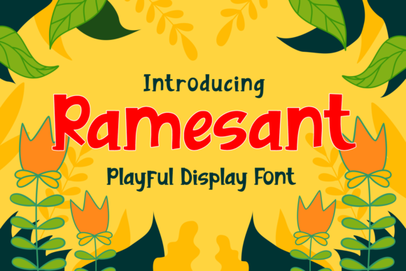 Print on Demand: Ramesant Display Font By Dreamink (7ntypes)