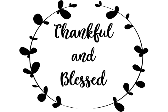 Print on Demand: Thankful and Blessed Graphic Print Templates By AM Digital Designs