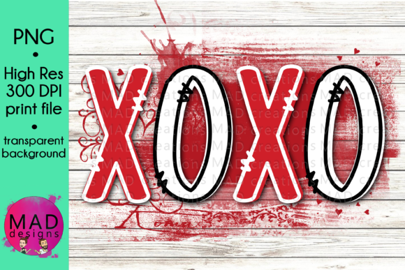 Valentines Day - XOXO - Red Backsplash Graphic Crafts By maddesigns718