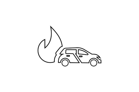 Download Free Car Insurance Line Art Vector Icon Graphic By Riduwan Molla for Cricut Explore, Silhouette and other cutting machines.