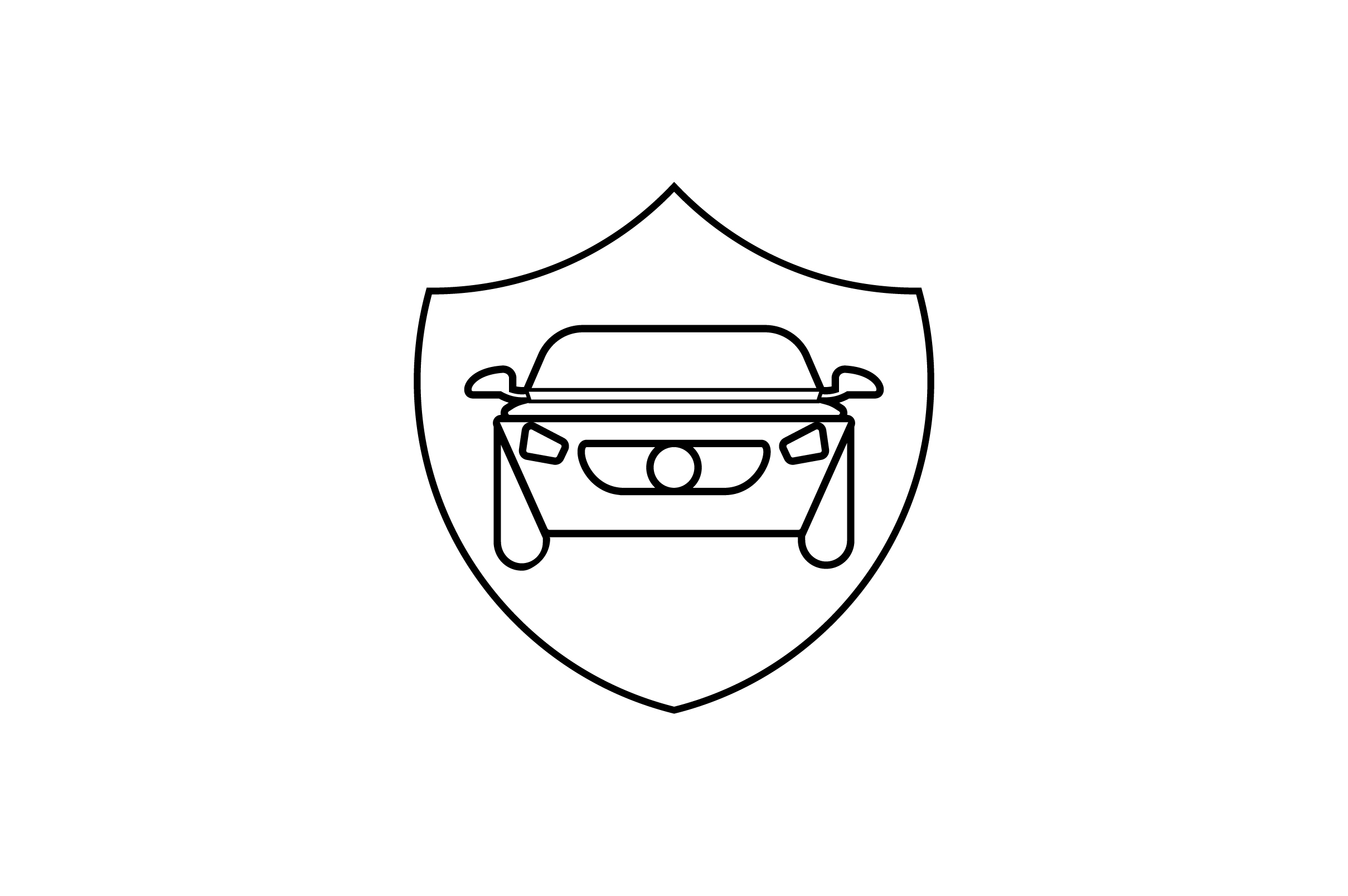 Download Free Car Shield Line Art Vector Icon Graphic By Riduwan Molla for Cricut Explore, Silhouette and other cutting machines.