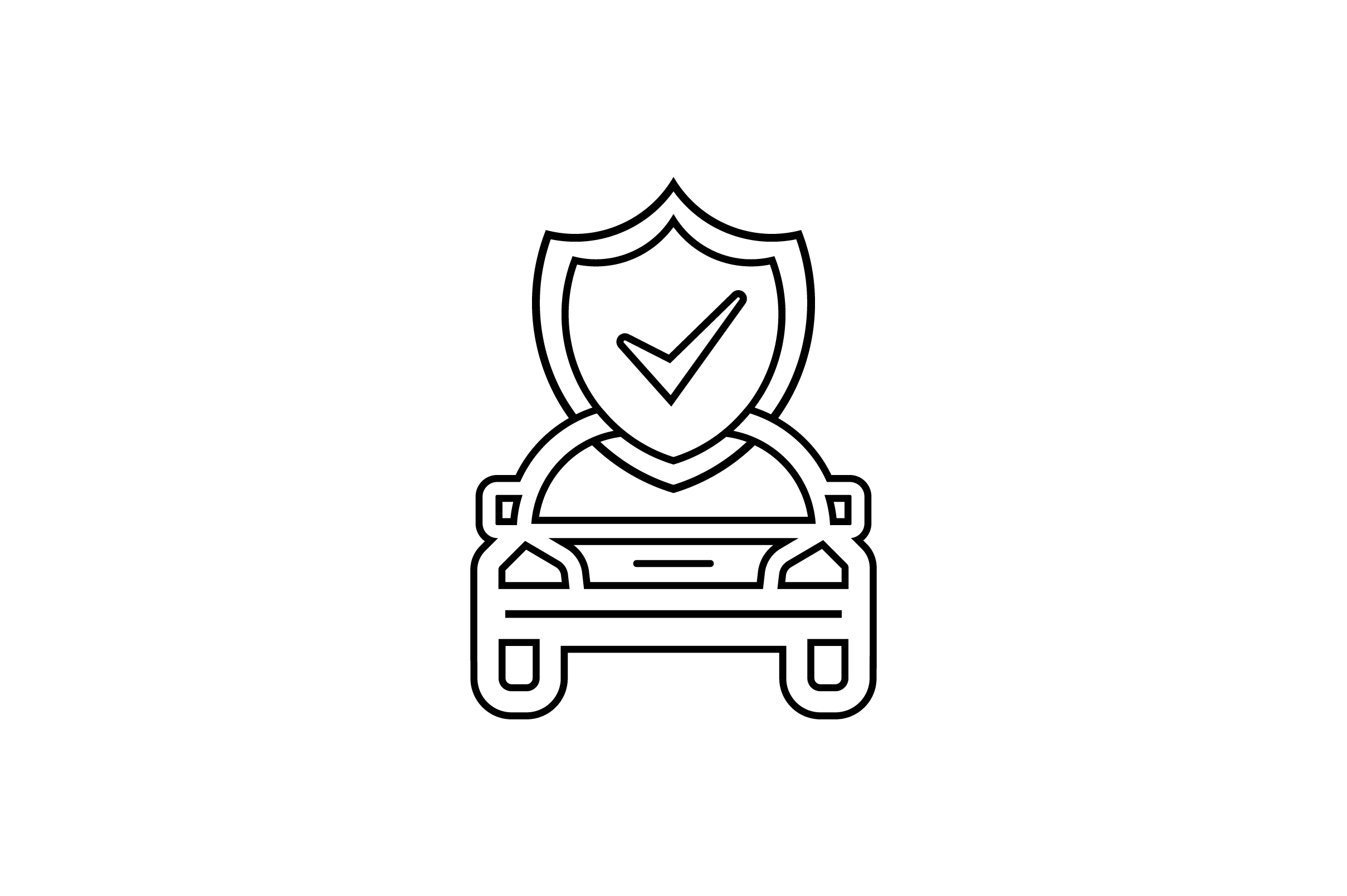 Download Free Car Shield With Check Mark Icon Vector Graphic By Riduwan Molla for Cricut Explore, Silhouette and other cutting machines.