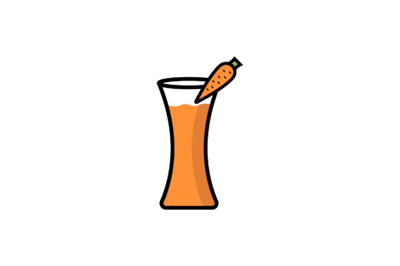 Carrot Juice Liner Fill Icon Vector Graphic By Riduwan Molla