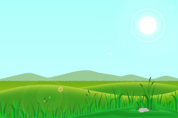 Print on Demand: Illustration of Meadow Graphic Illustrations By sabavector - Image 1