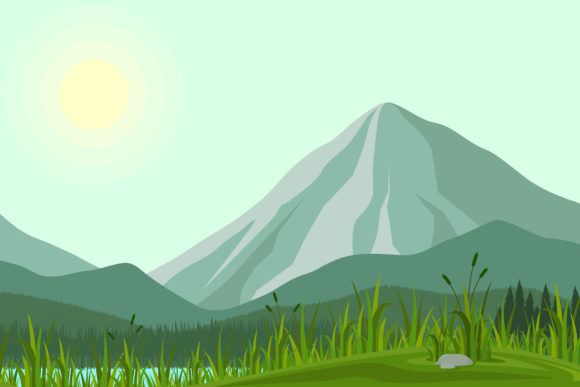 Print on Demand: Illustration of Mountains Graphic Illustrations By sabavector - Image 1