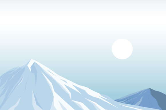 Print on Demand: Illustration of Snow Mountain Graphic Illustrations By sabavector - Image 1