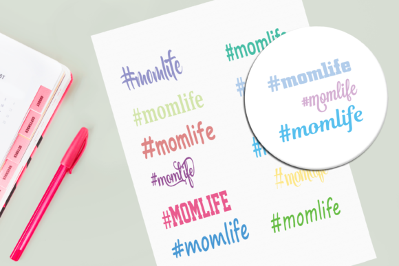 Download Free Momlife Multiple Fonts Graphic Graphic By Am Digital Designs for Cricut Explore, Silhouette and other cutting machines.