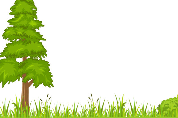 Print on Demand: Pine Nature Background Graphic Illustrations By sabavector