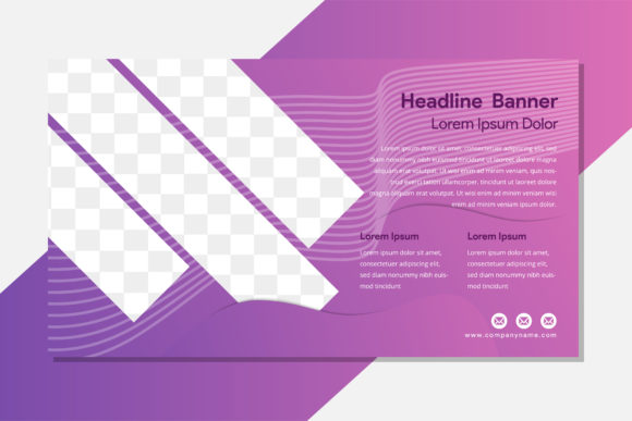 Print on Demand: Purple Diagonal Photo Flyer Graphic Graphic Templates By noory.shopper