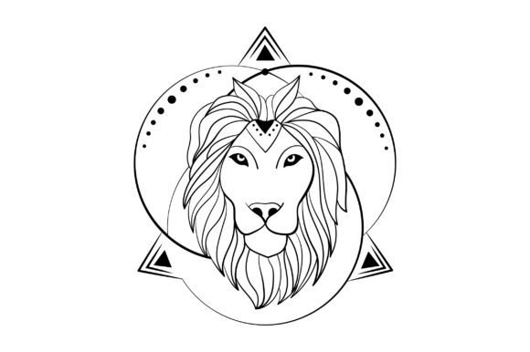 Linework Lion Animals Craft Cut File By Creative Fabrica Crafts - Image 2