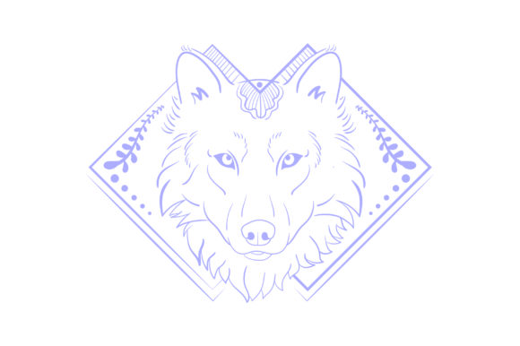 Linework Wolf Animales Archivo de Corte Craft Por Creative Fabrica Crafts