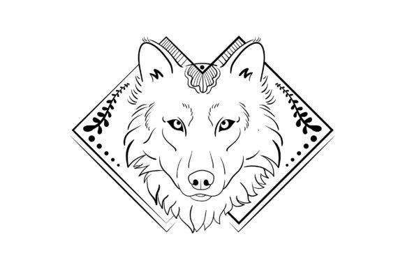 Download Free Linework Wolf Svg Cut File By Creative Fabrica Crafts Creative for Cricut Explore, Silhouette and other cutting machines.