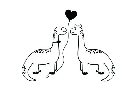Lover Dinosaurs Valentine's Day Craft Cut File By Creative Fabrica Crafts - Image 2