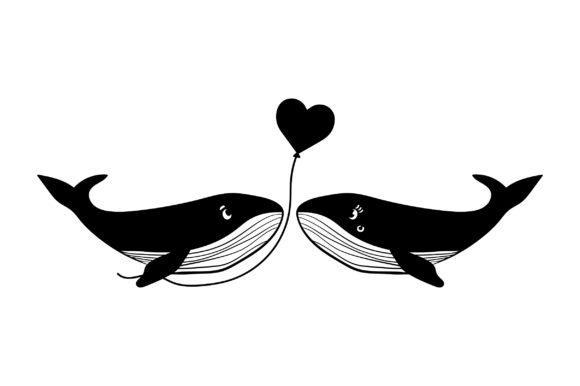 Lover Whales Valentine's Day Craft Cut File By Creative Fabrica Crafts - Image 2