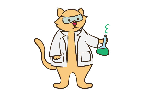 Download Free Cat Scientist Svg Cut File By Creative Fabrica Crafts Creative for Cricut Explore, Silhouette and other cutting machines.