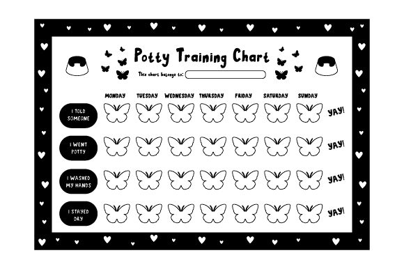 Potty Training Chart Baby Craft Cut File By Creative Fabrica Crafts - Image 2