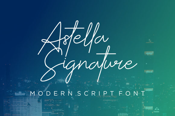 Print on Demand: Astella Signature Manuscrita Fuente Por CreativeKiller