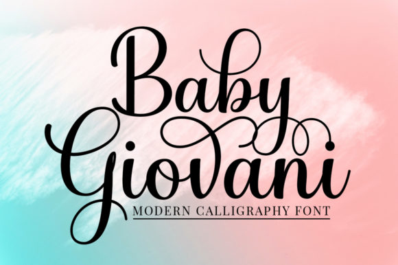 Print on Demand: Baby Giovani Script Script & Handwritten Font By mythastudio