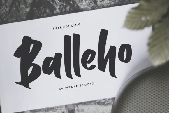 Print on Demand: Balleho Script & Handwritten Font By Weape Design