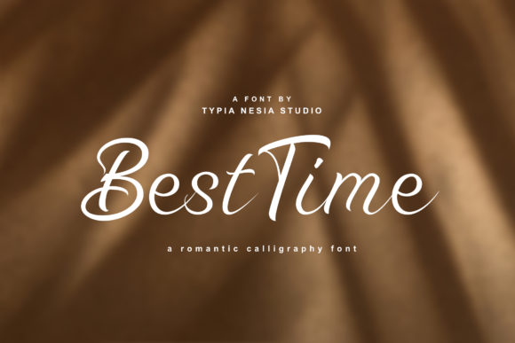 Print on Demand: Best Time Script & Handwritten Font By Typia Nesia