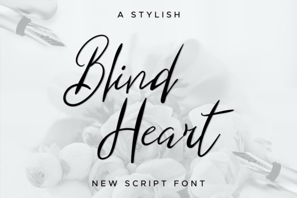 Download Free Blind Heart Font By Edricstudio Creative Fabrica for Cricut Explore, Silhouette and other cutting machines.