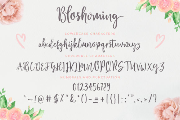 Print on Demand: Bloshoming Script & Handwritten Font By Zane Studio - Image 5