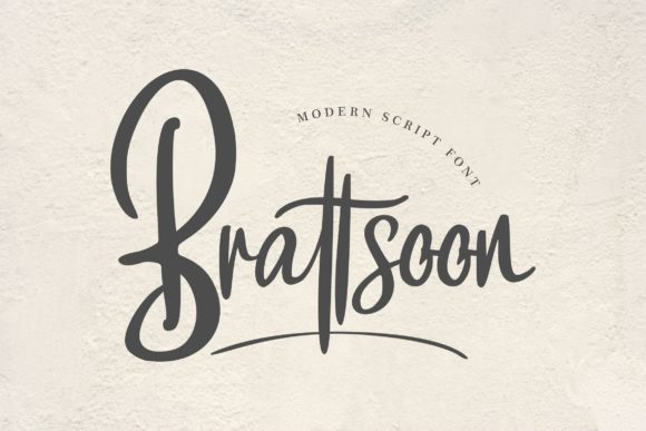 Print on Demand: Brattsoon Script & Handwritten Font By Vunira