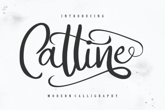 Print on Demand: Catline Script & Handwritten Font By Vunira