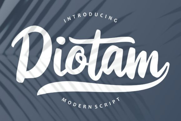 Print on Demand: Diotam Script & Handwritten Font By Vunira