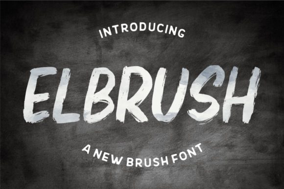 Print on Demand: Elbrush Display Font By Garisman Studio