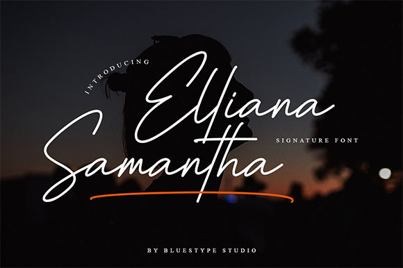 Print on Demand: Elliana Samantha Script & Handwritten Font By Bluestype Studio