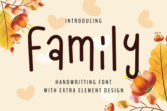 Print on Demand: Family Script & Handwritten Font By bitongphoto
