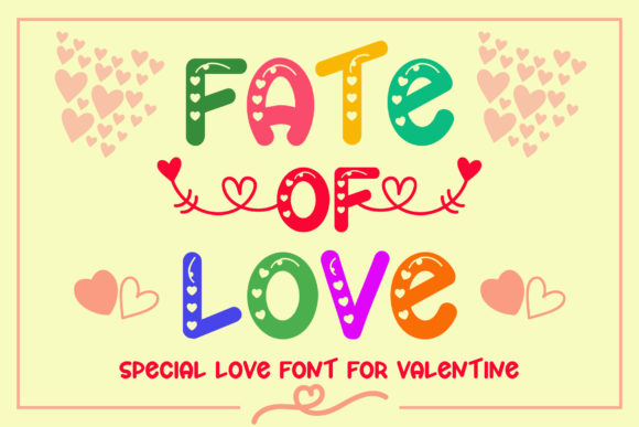 Print on Demand: Fate of Love Display Font By airotype
