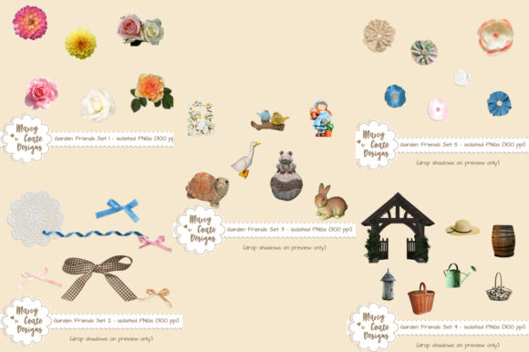 Garden Friends Bundle Graphic Photos By MarcyCoateDesigns