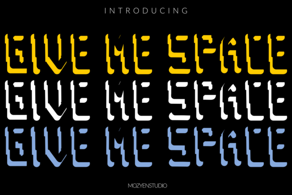 Print on Demand: Give Me Space Display Font By mozyenstudio