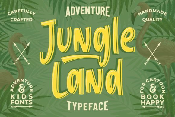 Print on Demand: Jungle Land Display Schriftarten von Garisman Studio