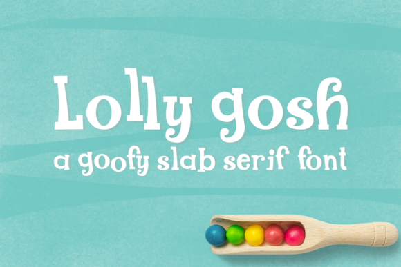 Print on Demand: Lolly Gosh Display Font By amber_nest - Image 1
