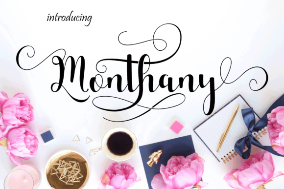 Print on Demand: Monthany Script & Handwritten Font By MYdesign - Image 1
