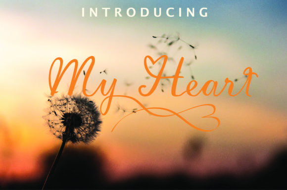Print on Demand: My Heart Script & Handwritten Font By mamplanglaut