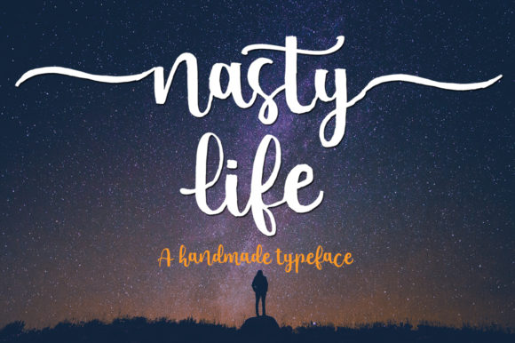 Print on Demand: Nasty Life Script & Handwritten Font By Struggle Studio