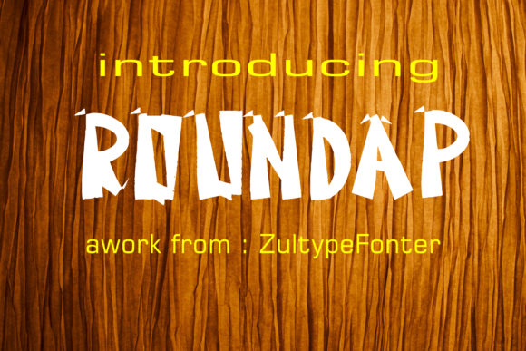Print on Demand: Roundap Display Font By ZultypeFonter - Image 1