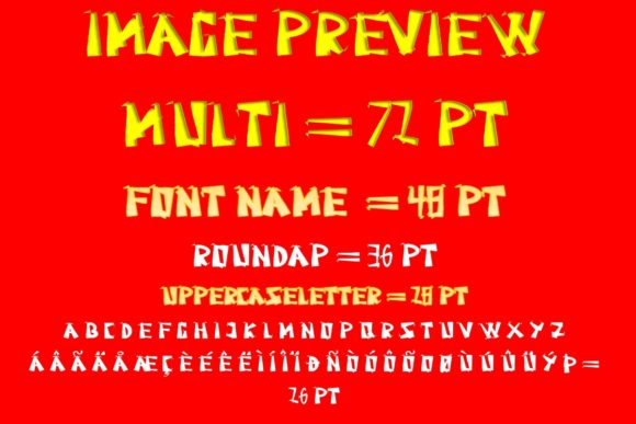 Print on Demand: Roundap Display Font By ZultypeFonter - Image 6